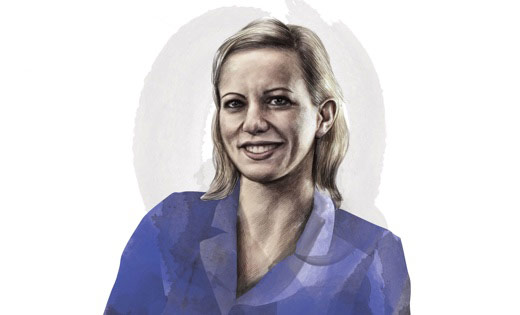 Illustration of Virginia Mantouvalou, Professor of Human Rights and Labour Law at UCL
