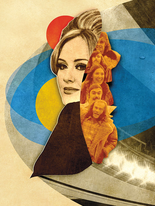 Illustration of the singer Adele